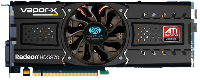 Sapphire radeon hd 5870 vaporx graphics card 1gb gddr5